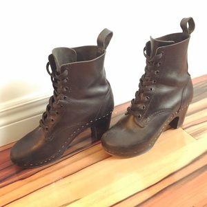 Swedish Hasbeens Toffel granny boots